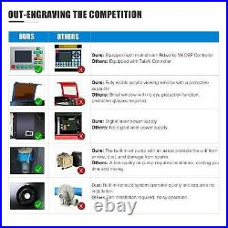 OMTech 28x20 inch 60W CO2 laser Engraver Cutter Ruida with CW-3000 Water Chiller