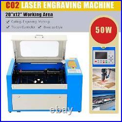OMTech 50W 20x12 CO2 Laser Cutting Engraving Machine Cutter Engraver Trocen