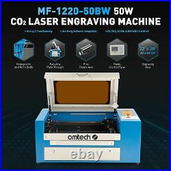 OMTech 50W 20x12in CO2 Laser Engraver Cutter Ruida with Rotary Axis & Lightburn