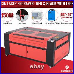 OMTech 63x40 150W CO2 laser Engraver Cutter with Autofocus 5200 Water Chiller