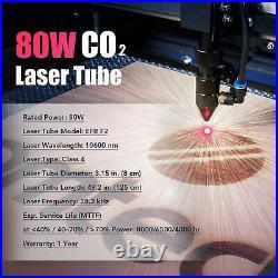 OMTech 80W 28x20 CO2 Laser Cutting Machine w Ruida Controls Autofocus Air Assist