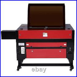 OMTech 80W 28x20 CO2 Laser Engraver Cutter with Cylinder Rotary Attachment
