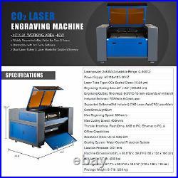 OMTech 80W 40x24 CO2 Laser Engraver Cutter Motorized Z LCW-5202 Wtaer Chiller
