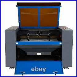 OMTech 80W 40x24 CO2 Laser Engraver Cutter Motorized Z with Rotary Axis C