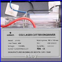 OMTech CO2 Laser Engraver Cutter Engraving Cutting 12x 8 40W LCD Red Dot K40