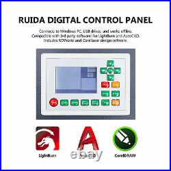 Omtech 28x20 80W CO2 laser Engraver Cutter Ruida with CW-3000 Water Chiller
