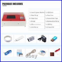 Omtech K40 40W 12x 8 CO2 Laser Engraver Engraving Machine USB Interface DIY