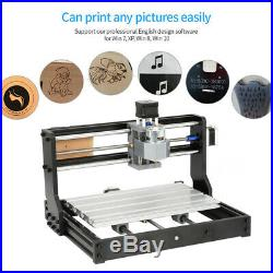 PRO 3018 CNC Machine 3 Axis Router Engraving PCB Wood DIY Mill+2500mw Laser Head