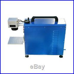 Portable 20W Fiber Laser Marking & Engraving Machine Metal Engraver+ Ratory Axis
