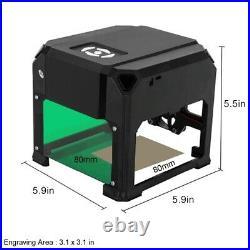Portable 3000mW Desktop Mini Laser Engraver DIY Logo Printer Cutter Machine