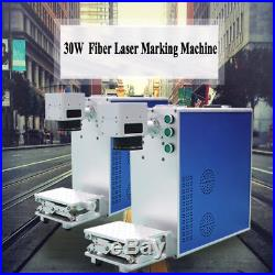 Portable 30W Fiber Laser Marking Machine Laser Engraver Printer Metal Engraving