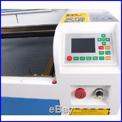 RECI 100W CO2 Laser Engraving Machine Engraver Cutter & 80MM Rotary RUIDA DSP
