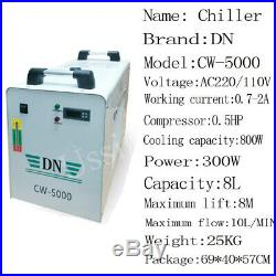 RECI 100W Laser Machine With Auto focus/CW-5000 Chiller/RDworks 6445/Rotary Axis