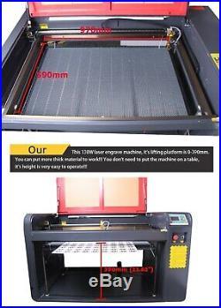 RECI 130W W6 Co2 Laser Engraving Cutting Machine CW5000 Water Chiller Autofocus