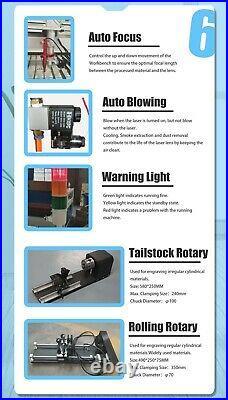 RECI 180W W8 CO2 Laser Cutting Machine 51X35 (1300X900mm) Laser Engraver Cutter