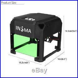 Real 2000mW USB Laser Engraver DIY Mark Printer Cutter Carver Machine 80x80mm