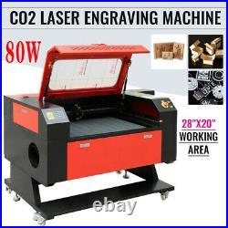 Ridgeyard 20'' x 28 80W CO2 Laser Cutter Engraver Engraving Machine Red Dot