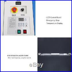 Ridgeyard 40W CO2 Laser Engraver Cutting Machine Crafts Cutter USB Port 12X8