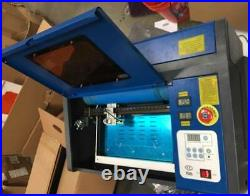 Secondhand 40W 12x 8 USB Port CO2 Laser Engraving Machine Cutter w Exhaust Fan