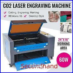 Secondhand CO2 Laser Engraver 60W 24x16 Cutter Engraving Marking Machine