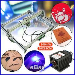 US 300mW 40x50cm Adjusted Laser Engraver CNC Desktop Wood Cutter Engraving DIY
