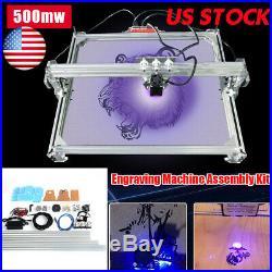US 65x50cm Laser Engraving Machine DIY Kit Carving Cutting Desktop Printer Wood