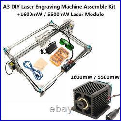 US EleksMaker EleksLaser A3 Pro Mini Laser Engraving Machine CNC Printer DC 12V