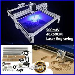 US Laser Engraving Machine 40X50CM DIY Logo Cutting 500mW Marking Wood Printer