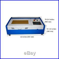 US Stock 12 x 8 40W CO2 Laser Engraver Cutter Worktable Engraving Machine FDA