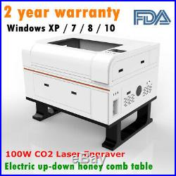 USA! EFR 100W CO2 Laser Engraver and Cutter Engraving Machine 700mm×500mm FDA