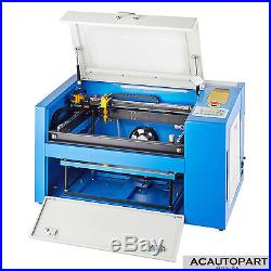 USB Port 50W CO2 Laser Engraving Machine Engraver Cutter Auxiliary Rotary Device