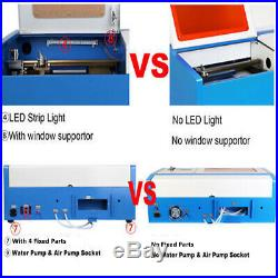 Upgraded 40W CO2 Laser Engraver Cutting Machine Crafts Cutter USB Interface New