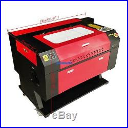 Used 100w CO2 Laser Engraver Cutter Machine Electric Lifting + Rotary Axis