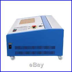 Used 40W CO2 Laser Engraving Cutting Machine 12x8in USB Movable Wheel